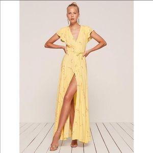 Reformation Yellow Maxi Kimono Dress